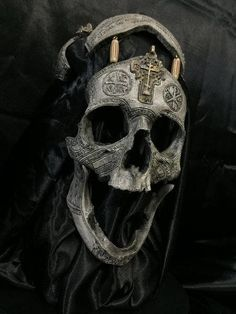 I Give you the War Chaplain. Each Piece is hand painted, signed and numbered by the artist. Inspired by the Tibetan Necromancer Mask and the following verse: Ephesians 6:12 Verse Concepts For our struggle is not against flesh and blood, but against the rulers, against the