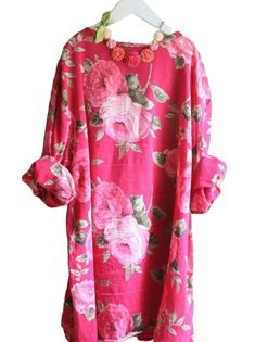 Madeleine necklace on Rose dress Outfits Plus Size, Dress Plus Size, Floral Fashion, Look Fashion, Womens Fashion, Dress Fashion, Rose Dress, Dress Up, Fuchsia