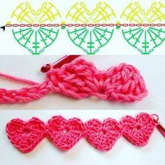 Watch This Video Beauteous Finished Make Crochet Look Like Knitting (the Waistcoat Stitch) Ideas. Amazing Make Crochet Look Like Knitting (the Waistcoat Stitch) Ideas. Crochet Motifs, Crochet Borders, Crochet Flower Patterns, Crochet Diagram, Crochet Stitches Patterns, Crochet Chart, Love Crochet, Crochet Flowers, Crochet Baby