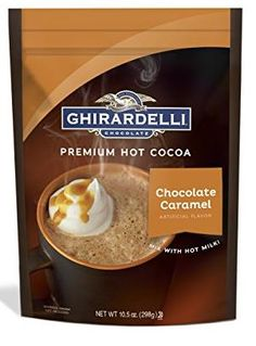 Delicious caramel hot chocolate from Ghirardelli!