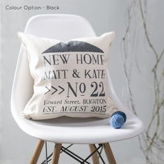 New Home Cushion Personalised For New Home Owners - view all sale items