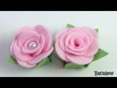 Artesanato Como fazer ROSA em FELTRO... CLIQUE PARA ASSISTIR (9912)