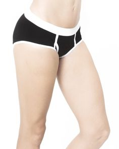 Black Women's Y Front Undies Organic Cotton