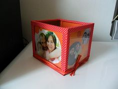 DIY photo cube/pen holder with CD cases