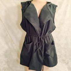 Adorable greenish vest with hood-Host Pick 3/5/16 Adorable greenish vest with hood.Top Trends Party Host Pick 3/5/16! Jackets & Coats Vests