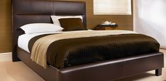 Double (4 ft 6) Faux Leather Bedframe