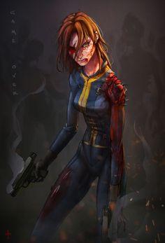 Αποτέλεσμα εικόνας για fallout 4 women concept art worker
