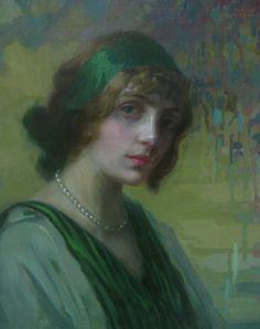 Woman in Green - Kimon Loghi