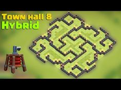Clash of clans - Town hall 8 (TH8) hybrid base 2015 [The slit] with Air ...