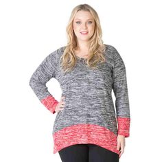 PRE-ORDER - Contrast hem Knit Jumper (CHARCOAL MARLE) $79.95 http://www.curvyclothing.com.au/index.php?route=product/product&path=95_104&product_id=6852&limit=75
