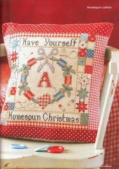 Homespun Cozy Christmas cushion