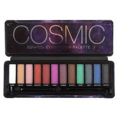 BYS Cosmic Eyeshadow Palette Tin with Mirror & Applicator 12 Shades Shimmer Unicorn Bold Bright Neon Galaxy Best Cheap Eyeshadow Palette, Bright Eyeshadow, Blending Eyeshadow, Eyeshadow Base, Unicorn Makeup, Unicorn Hair, Unicorn Party, Bys Maquillage, Makup Looks