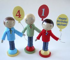 Clothspin dolls - boys