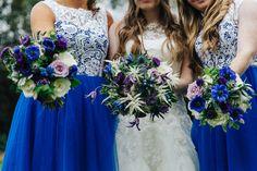 Blue Purple Flower Crowns Bridesmaids Bridal Bohemian Wonderland Tea Party Wedding http://www.christinemcnally.co.uk/