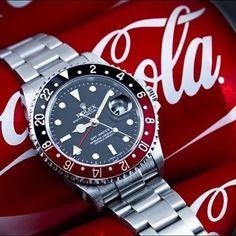 Rolex GMT Master II Coca-Cola (black-red bezel)