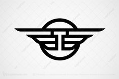 Logo for sale: Winged Letter T Logo