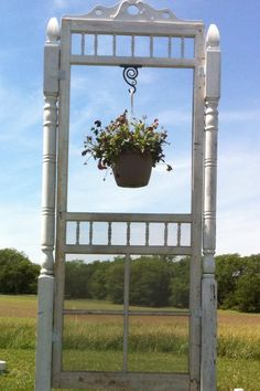 A screen door project my husband made for my mom :)  Nice garden addition!!!