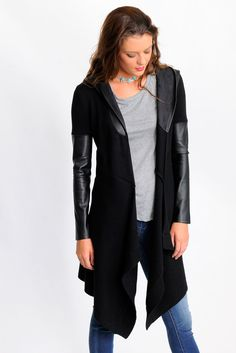 BlankNYC Sweater Duster in black. I own this piece