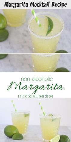 This non-alcoholic Margarita Mocktail Recipe is the perfect blend of sweet and tart. Also known as a virgin margarita, all ages can enjoy it! Non Alcoholic Margarita, Virgin Margarita, Vodka Cocktails, Alcoholic Drinks, Beverages, Margarita Mocktail Recipe, Gimlet Recipe, Vodka And Pineapple Juice, Alcohol