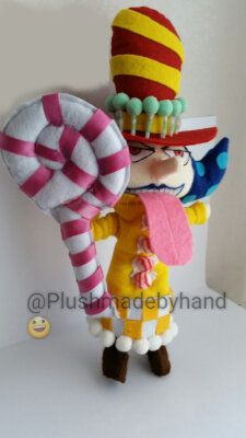 Peluche ispirato a Perospero- One Piece - Big Mom pirates, by Plushmadebyhand, 90,00 € su misshobby.com