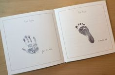 Baby Memory Book with Hand/Foot Prints