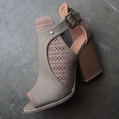 sweet talk perforated peep toe bootie (more colors) - shophearts - 1