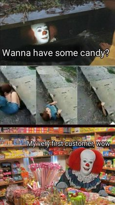 like this is creepy why would a kid even go down their if they want some candy