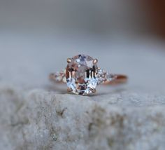 Moody Engagement Ring. 3ct Color change sapphire ring. Rose gold engagement ring Blake Lively ring oval ring Sapphire ring by Eidelprecious
