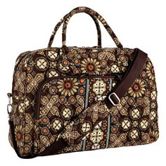 """Luggage. Quilted """"Weekender"""" by Vera Bradley - Canyon Pattern. Many matching pieces. EXCELLENT quality."""