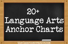 language arts anchor charts  {theclassroomcreative.com}