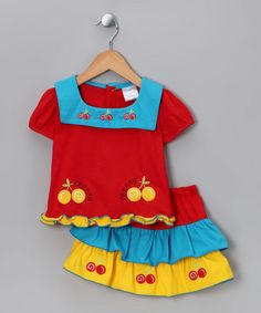 Take a look at this Red Cherry Top & Skirt - Infant & Toddler by LELE Baby on #zulily today!