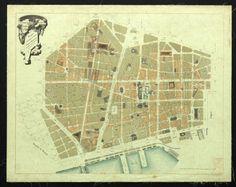 Plano de la reforma interior de la ciudad de Barcelona aprobado por reales decretos de 12 de Abril de 1887 y 14 de Julio de 1889 :: Mapes (Biblioteca de Catalunya)