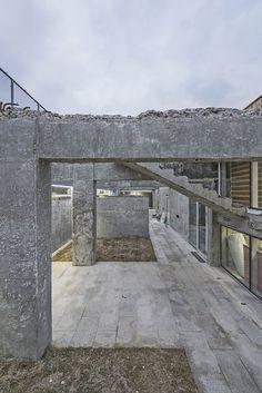 CoRe Architects converts Korean tank bunker into community arts centre Architecture Images, Interior Architecture, Sustainable Practices, Adaptive Reuse, Cultural Center, Built Environment, Bunker, Community Art, Facade