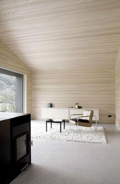 Sven Matt: House for Gudrun - Thisispaper Magazine    interior wooden cladding