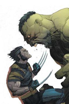 Wolverine vs Hulk by Leinil Francis Yu
