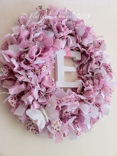Would be a pretty Easter wreath with last name initial in center.