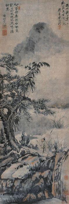 Shi Tao(石濤) ,  策杖觅句图
