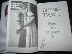 Was thrilled to meet and have my book signed by Shania Twain..