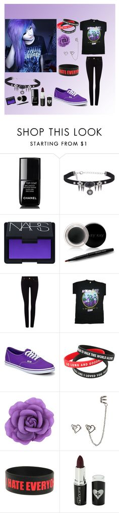 """""""Untitled #5"""" by saidenwynter ❤ liked on Polyvore featuring Chanel, Topshop, NARS Cosmetics, Mary Kay, True Religion, Vans and Voom"""