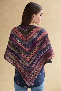 Simple Crochet Shawl - free pattern by Teresa Chorzepa for Tahki Stacy Charles.