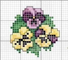 Pansy x-stitch pattern