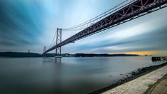 Ponte 25 de Abril – Lisbon, Portugal – Seascape, travel photography – Cities Of This World Amazing Photography, Travel Photography, Better Photography, Rio, Concrete Paving, Lisbon Portugal, Instagram Worthy, Heaven On Earth, Patio Design