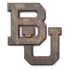 WANT. // 3D Interlocking BU Wall Art ($69.99 at CongressClothing.com) #SicEm #Baylor