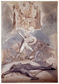 Henry Fuseli - Psychostasy (The Weighing of Souls). 1800
