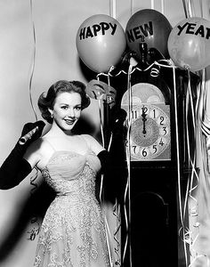 Piper Laurie; Hollywood New Year's publicity photo.
