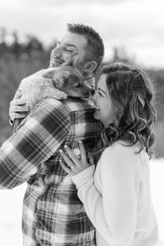 Winter Provin Trails Engagement with puppy.