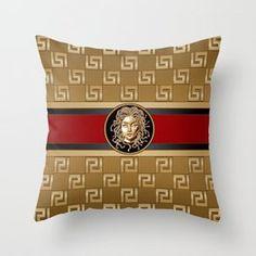 AltaModa's Store   Society6 Couch Pillows, Down Pillows, Greek Design, Medusa Head, Emerald Gemstone, Designer Throw Pillows, Pillow Design, Fine Art Photography, Pillow Inserts