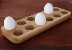 Poplar Wood Egg Tray