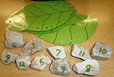 Very hungry caterpillar math..match the eaten (hole punched) leaf with the correct number