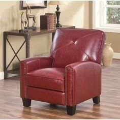 The Matias Top Grain Leather Pushback Recliner Is The